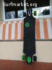 Skate deeply longboard neon downhill