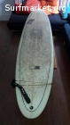 Tabla de Surf Black and white 7.6