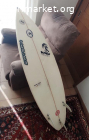 Tabla de surf Watsay 5'9 con grip y quillas
