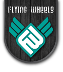 Skateboard Flying Wheels