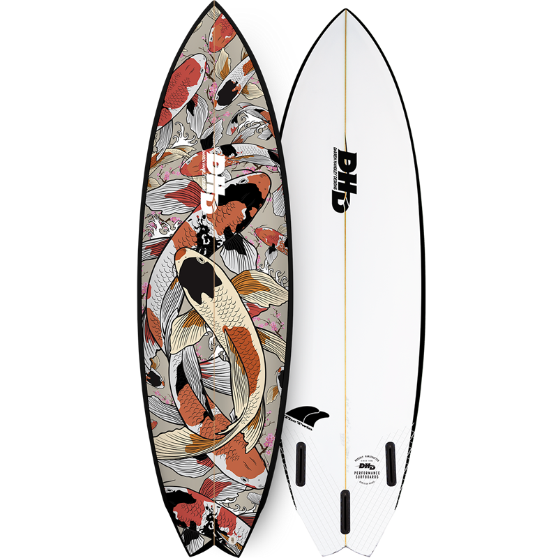 DHD Surfboards Twin Fin Koi