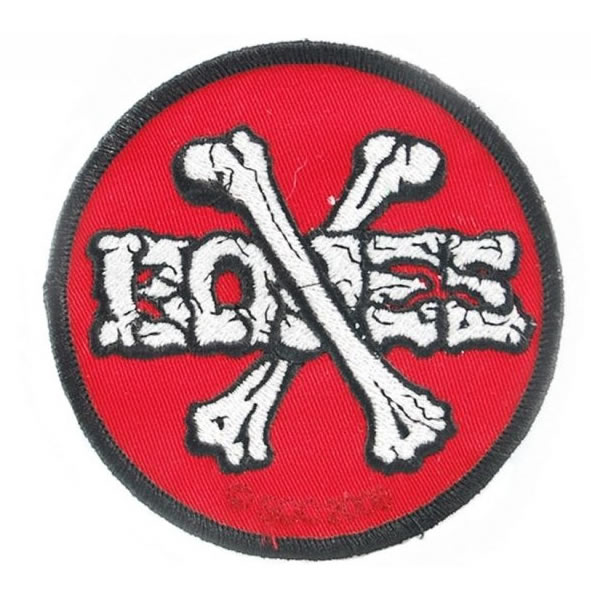 Patch Bones Cross Red