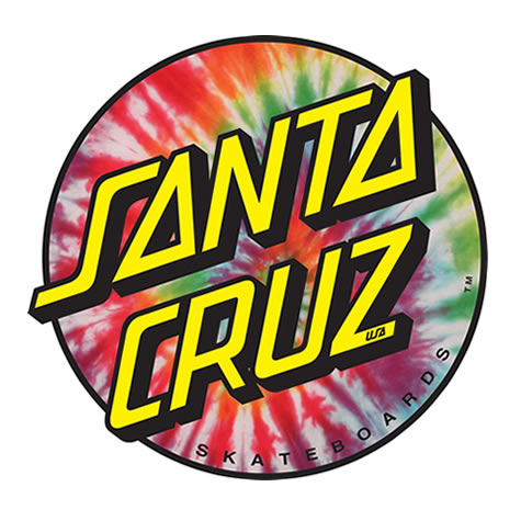 Sticker Santa Cruz Tie Dye