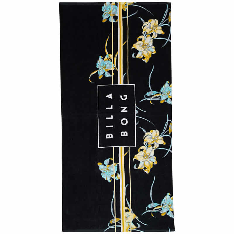 Toalla Billabong  Die Cut Black Flowers