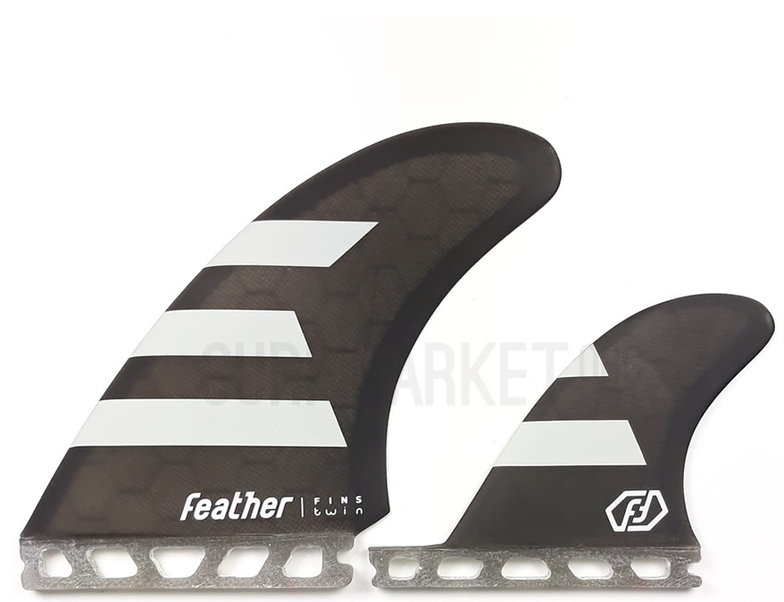 Quillas Feather Fins  Twin Fin 2+1