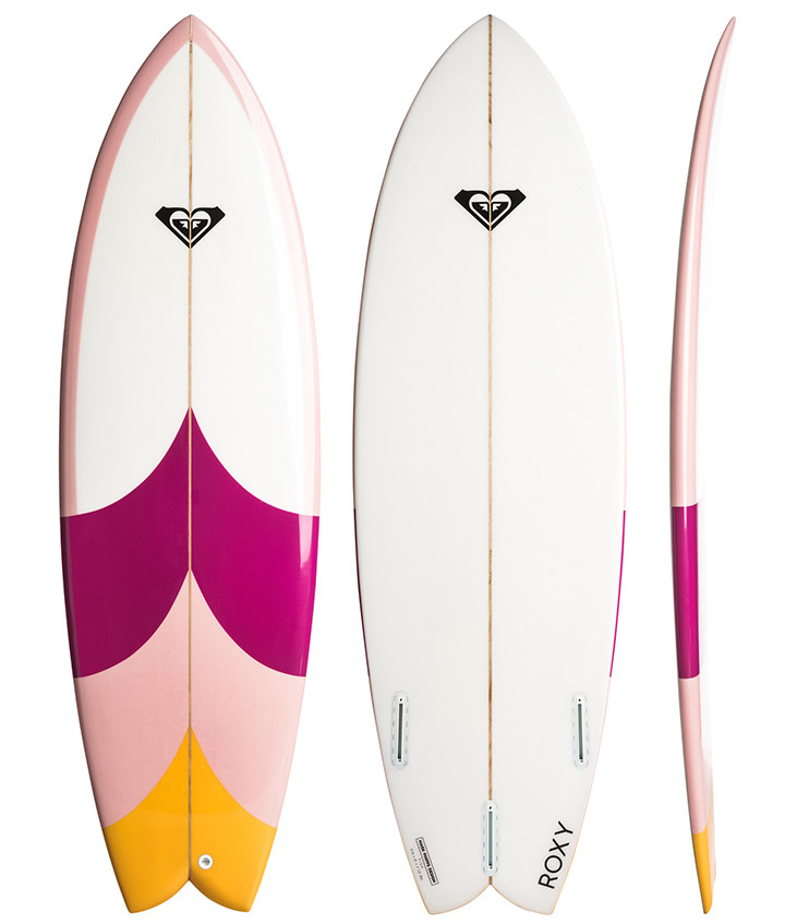 Roxy Surfboards  The Fish Pink