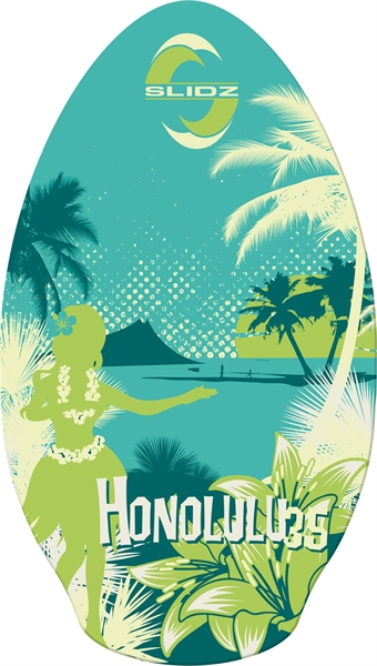 Skimboard 35''  Honolulu Slidz Green
