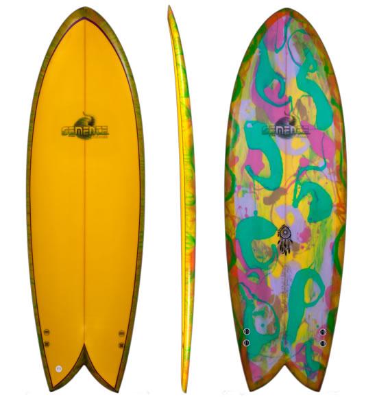 Vendo Tabla De Surf Retro Fish Semente Twin Gony