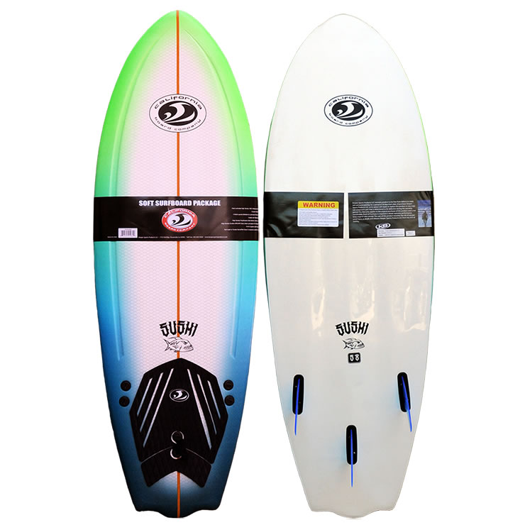 5'8''  Softboard CBC Sushi Green