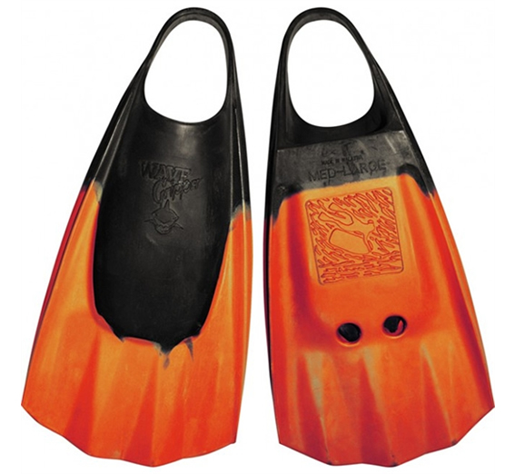 Aletas Wave Gripper Black Orange