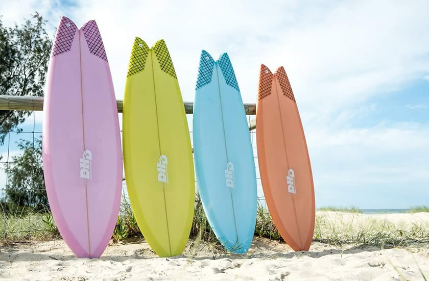 Mini Twin DHD Surfboards Resin Tint